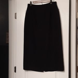 "Classic Liz Baker Black Skirt - 34.25"" in length"